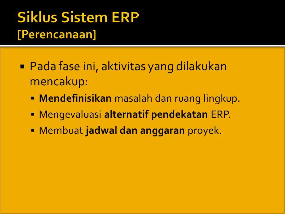 Siklus Sistem ERP [Perencanaan]